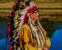 Cheyenne Chief in Headdress