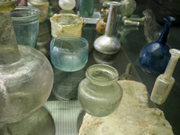 Glass containers, Musee d'Aquitaine, Bordeaux